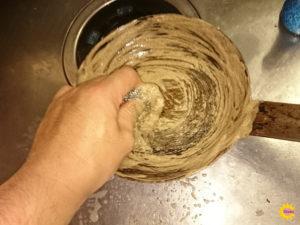 フライパン洗浄