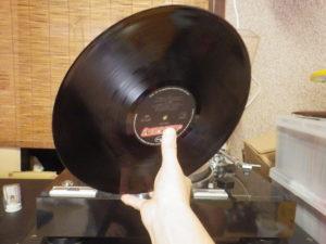 取り出し後 レコード盤