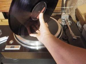 レコード盤保持