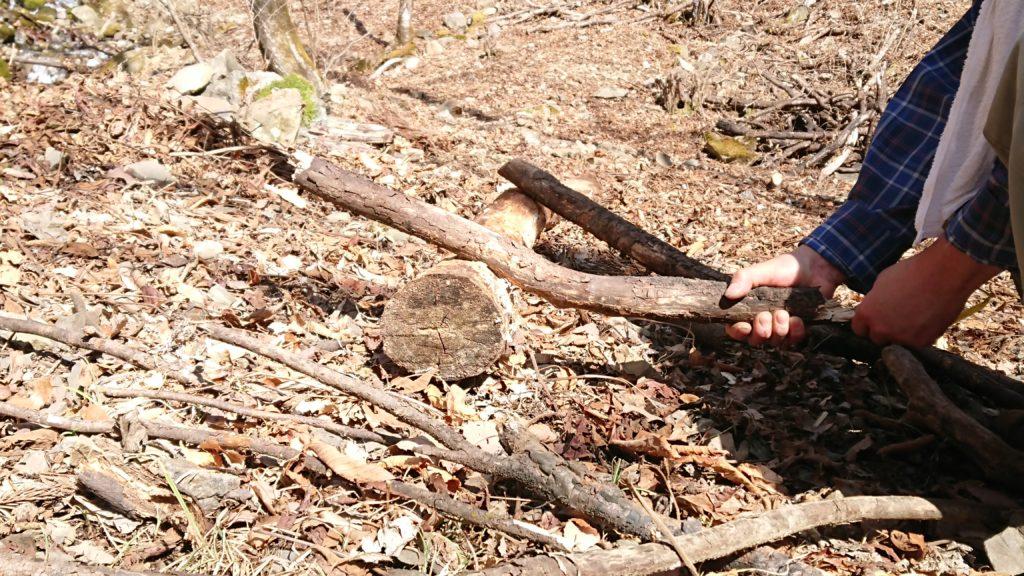 枯れ枝 薪作り1